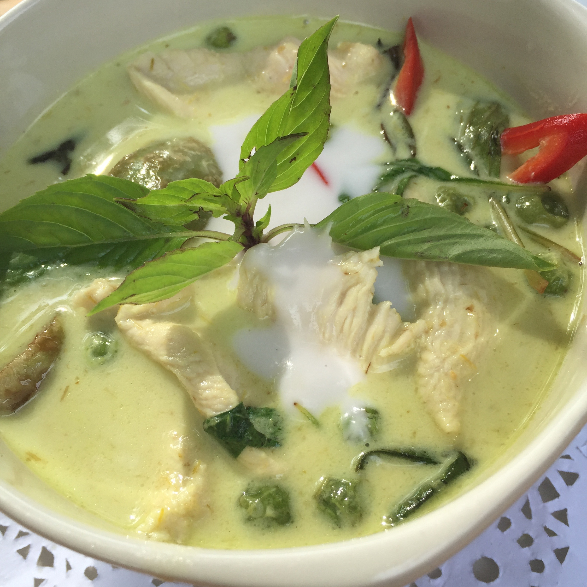Another famous Thai dish: Chicken Green Curry
